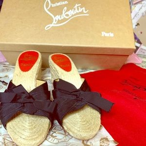 Louboutin wedges sandals